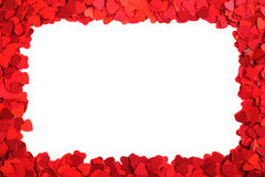 Paper hearts frame Stock Images