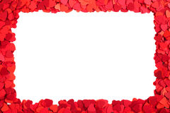 Paper hearts frame Royalty Free Stock Photography