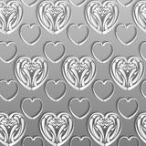 Paper hearts Royalty Free Stock Images