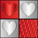 Paper hearts Stock Images