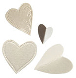 Paper hearts isolated on white Royalty Free Stock Photo