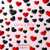 Paper hearts Valentines day card Royalty Free Stock Photography
