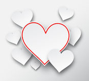 Paper hearts. Stock Photos
