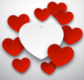 Paper hearts. Royalty Free Stock Photography
