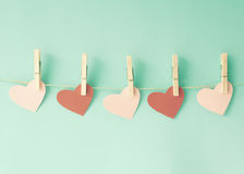 Paper Hearts Royalty Free Stock Image