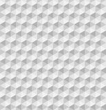 Paper hexagonal pyramids. Seamless vector pattern background. 3D relief Royalty Free Stock Photo