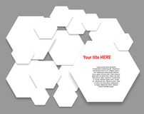 Paper hexagons Stock Photography