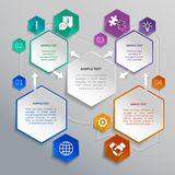 Paper hexagons template Stock Photos