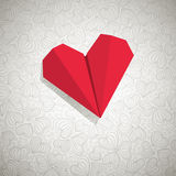 Paper hjärta Arkivfoton