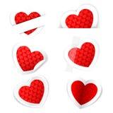 Paper hjärtaetikett Arkivfoto