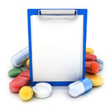 Paper holder and tablets Stock Image