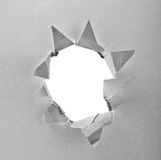 Paper with hole Stock Photos