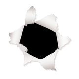 Paper hole explode Stock Photo