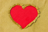 Paper hole in a heart shape Royalty Free Stock Photo