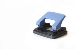 Paper hole punch. On a white background stock photo