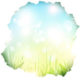 Paper hole with spring background Royalty Free Stock Photography