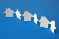 Paper home Royalty Free Stock Images