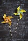 Paper homemade pinwheel Stock Photography
