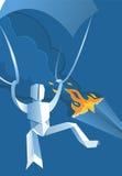 Paper hoppa fallskärm förklädet Arkivfoto