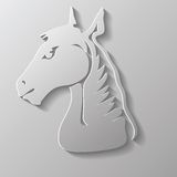 Paper horse head Royalty Free Stock Photo
