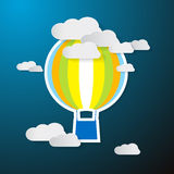 Paper Hot Air Balloon on Sky Stock Photography