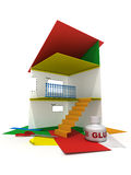 Paper house #1 Royalty Free Stock Image