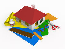 Paper house #2 Royalty Free Stock Image