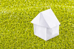 Paper house Stock Image