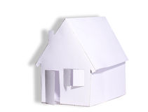 Paper house abstract Royalty Free Stock Image