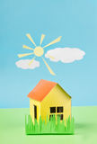 Paper house Stock Photography