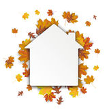 Paper House Autumn Foliage Royalty Free Stock Images