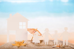 Paper house and family Royalty Free Stock Photography