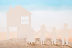 Paper house and family Royalty Free Stock Images