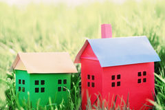 Paper house on  grass Royalty Free Stock Photos