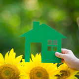 Paper house in hand Royalty Free Stock Photography