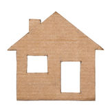 Paper house isolated on white background Royalty Free Stock Photography