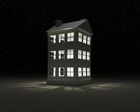 Paper house in nights Royalty Free Stock Photography