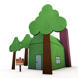 Paper house Stock Images