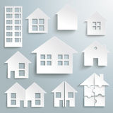 Paper House Set Royalty Free Stock Images