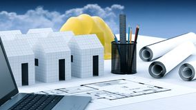 Paper house structural and Architecture Concept royalty free stock images