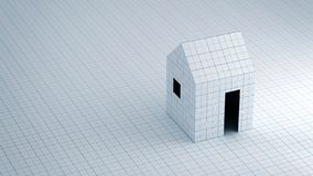 Paper house structural and Architecture Concept royalty free stock photo