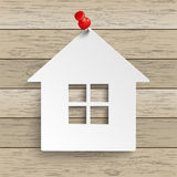 Paper House Tack Wood royalty free illustration