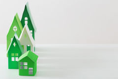 Paper house on white background Stock Images
