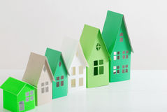 Paper house on white background Stock Photos