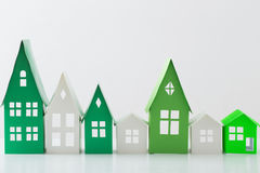 Paper house on white background Royalty Free Stock Photos