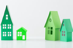 Paper house on white background Royalty Free Stock Image