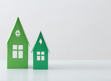 Paper house on white background Royalty Free Stock Images