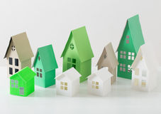 Paper house on white background Stock Photography