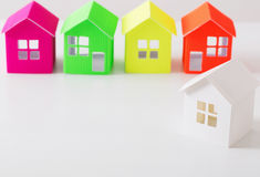 Paper house on white background Stock Image