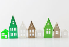 Paper house on white background Royalty Free Stock Photo